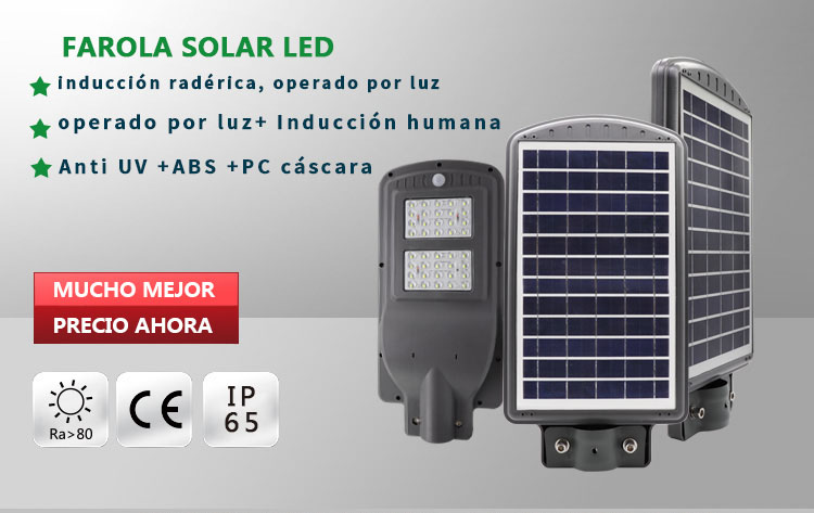 luz de calle solar led