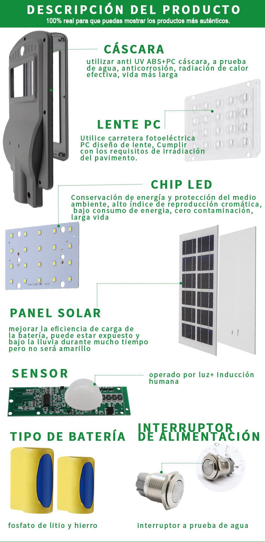 luz de calle solar llevada