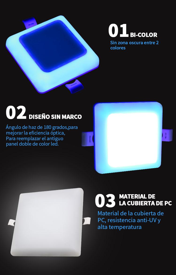 lámpara de panel sin marco led