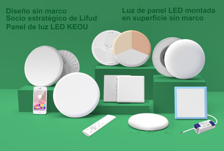 luz de panel led de montaje en superficie