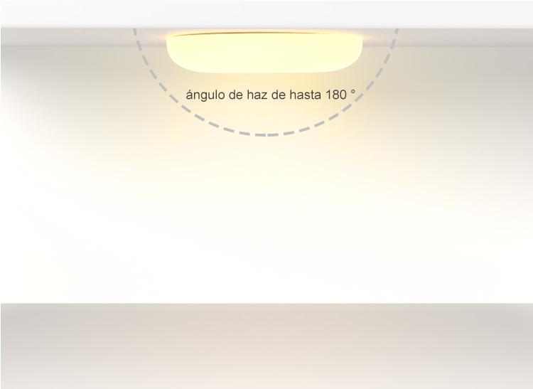 luz de panel led montada en superficie