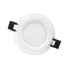 LED montado superficie vidrio ligero downlight panel 18W