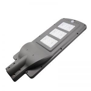 luz de calle solar llevada 60w ip65 integrado todo en un sensor de movimiento de aluminio exterior precio de la carcasa de fundición en Guangzhou