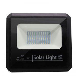 luz de inundación llevada solar 100w alimentó la lámpara inteligente al aire libre impermeable del reflector de la energía ip66 para el cuadrado de ciudad del jardín