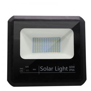 luz de inundación llevada accionada solar Iluminación al aire libre de la lámpara de emergencia ip66 de la batería dimmable de la seguridad del smd 60w