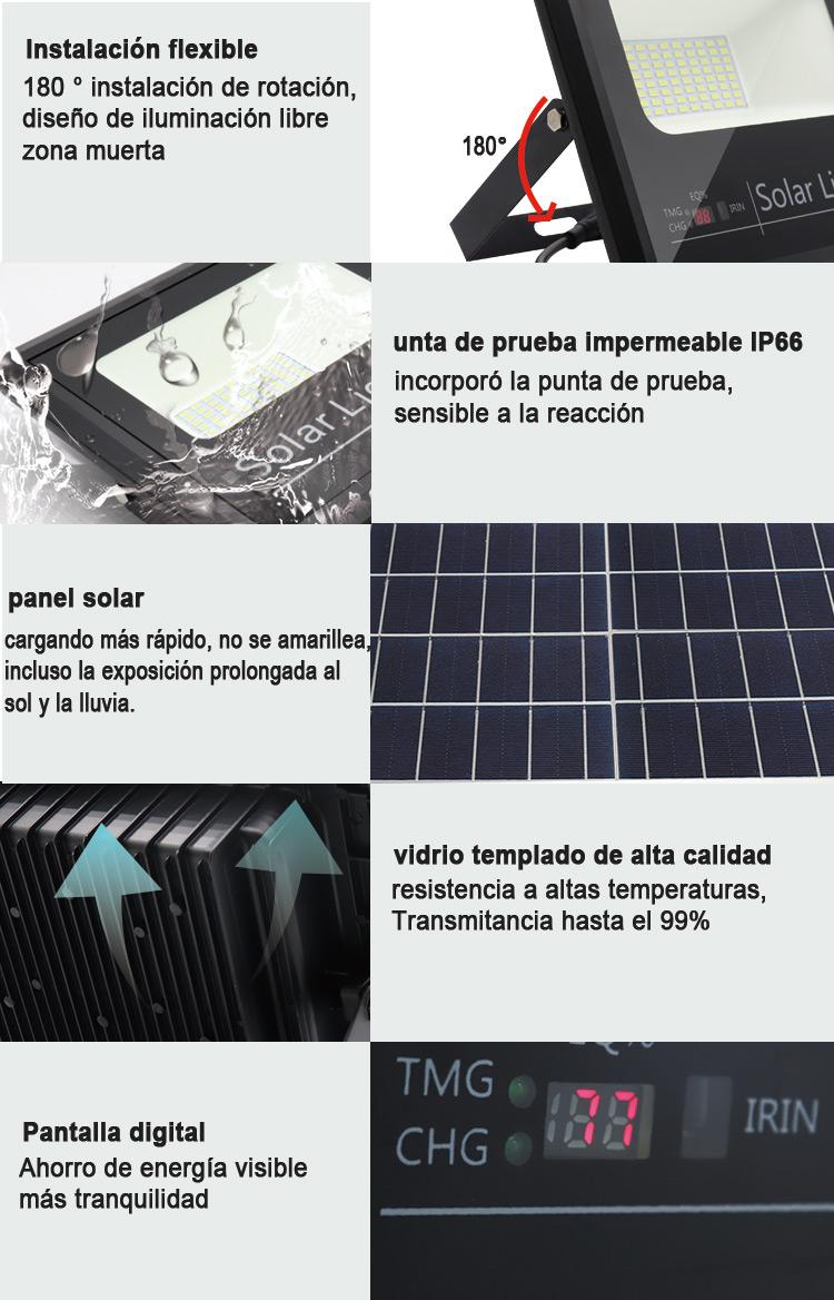 luz de inundación llevada accionada solar