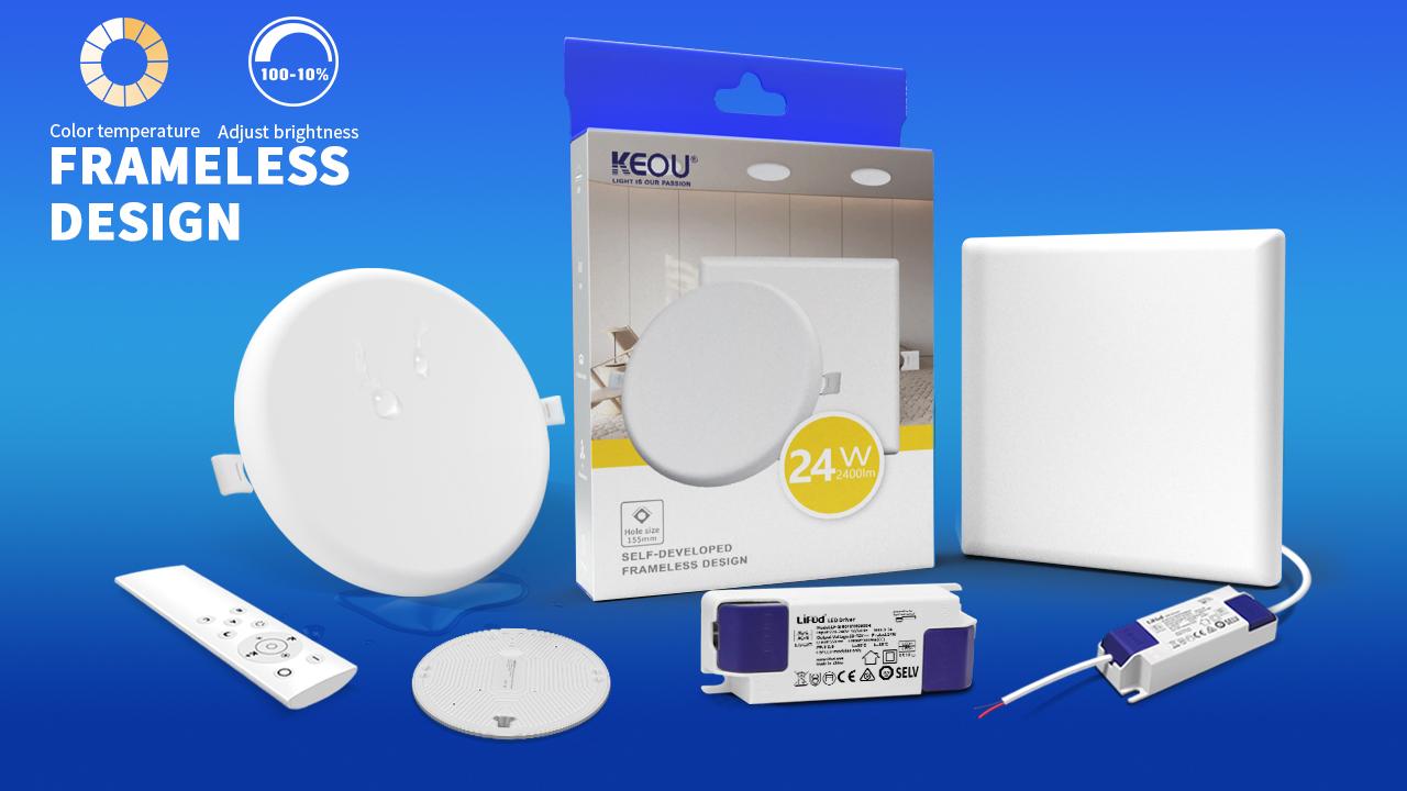 KEOU fabricante de luz led sin marco con conductor Lifud