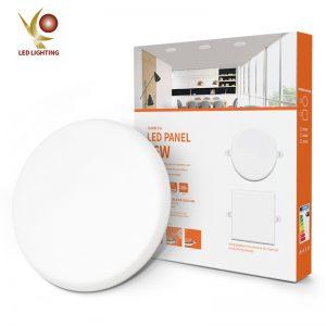 Panel de luz redondo led 100lm/w 24w sin marco empotrable panel COMI marca precio de fábrica