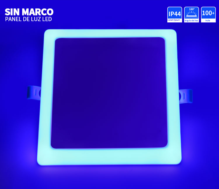 lámpara de panel sin marco led