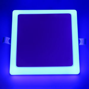 lámpara de panel sin marco led KEOU Factory 6 + 3w 12 + 4w 18 + 6w 24 + 8w cuadrado 100lm/w smd lámpara cuadrada de superficie