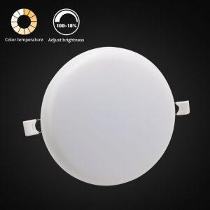 superficie de panel led 24W tres colores en una lámpara de techo sin marco inteligente