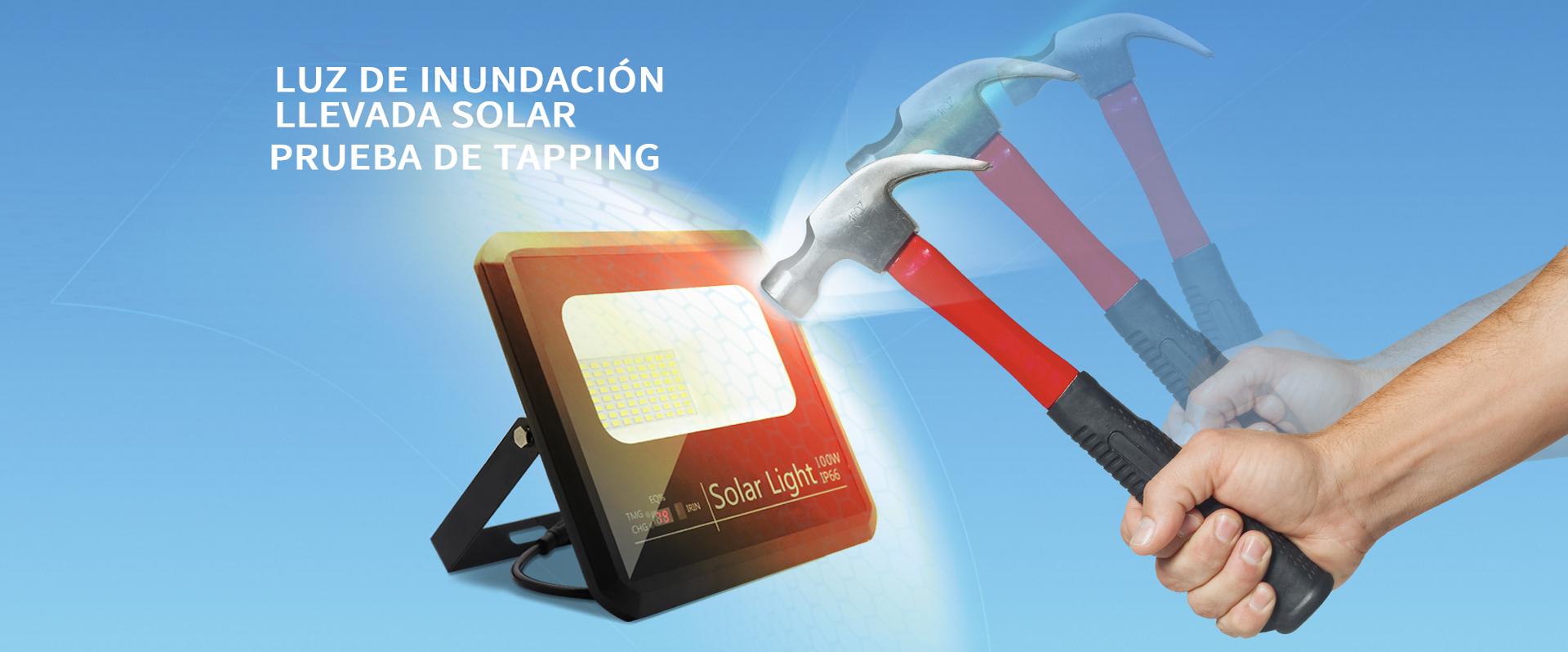 Fábrica de luz de inundación led solar