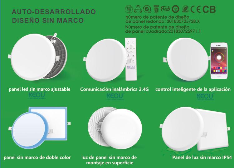 Panel led sensor de movimiento de fábrica-Luz sin marco de desarrollo propio KEOU
