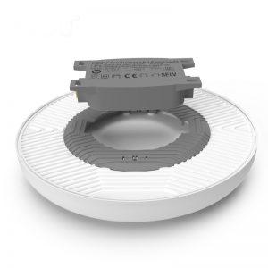 luz de panel led montada en superficie Lámpara de techo de aluminio de PC redonda de 36W diseño sin marco 3000K 4000K 6500K