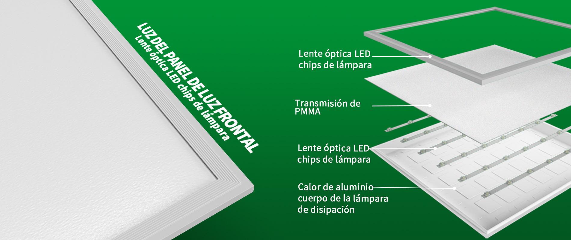 fábrica de luz led de panel plano